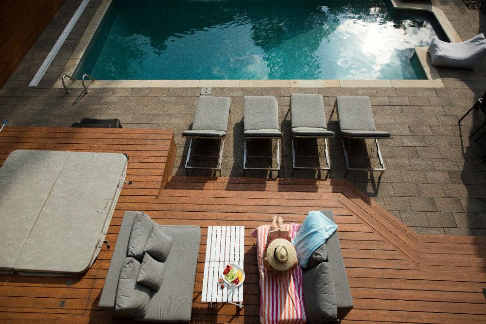mini piscine bois
