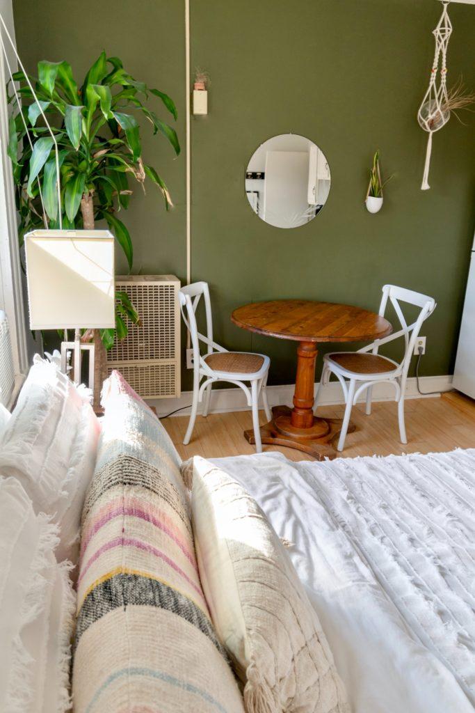 peinture couleur vert salon decoration